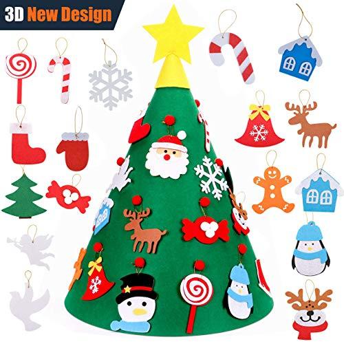 (Outgeek 3D Felt DIY Tree Felt Toys for Kids Felt Toddler Educational Toys)