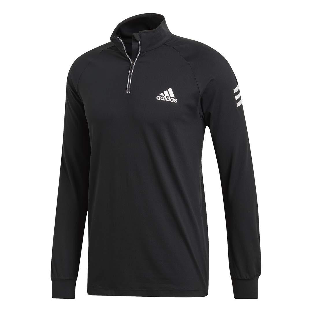adidas Club Midlayer Tennis Sweatshirt, Black/White, Small