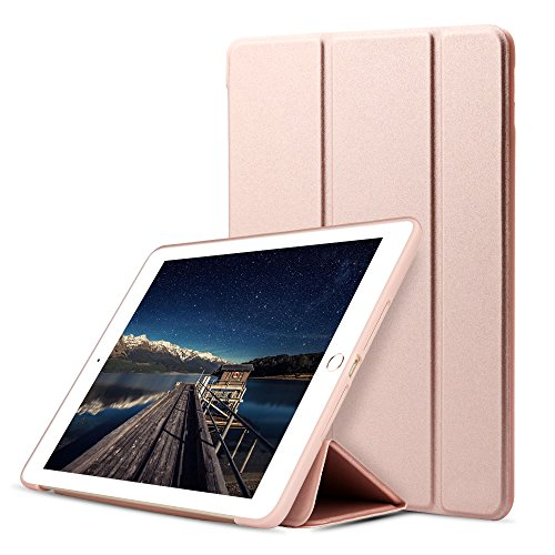 Generation Series Air - iPad 9.7 2018/2017 Case, DWOPAR Lightweight & Slim Smart Cover Trifold Stand with Magnet Shockproof Soft Back for New Apple iPad 9.7 Inch 5th/6th Generation Refreshing Series - Rose Gold
