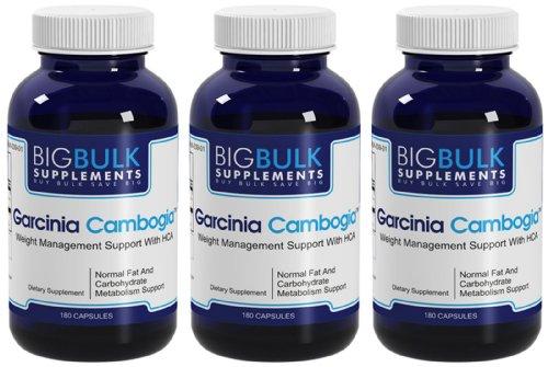 Garcinia cambogia acide hydroxycitrique (HCA) en vrac Soutien Gestion du poids Big suplements Garcinia cambogia fruits 800mg par portion 540 Capsules 3 Bouteilles