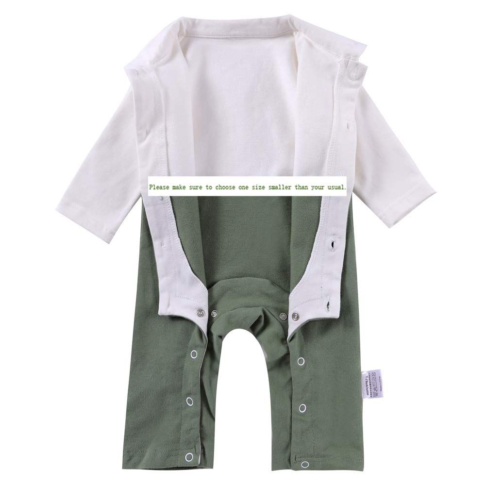 M/·Y star of the black Baby Cotton Romper with Detachable and Adjustable Bow Tie