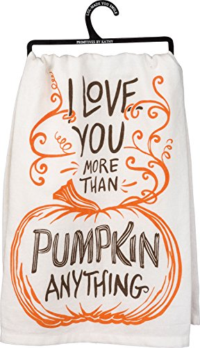 Primitives by Kathy - Dish Towel, 'I Love You...