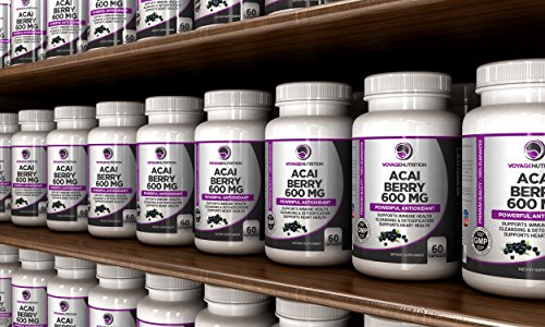 Voyage Nutrition Acai Berry 600MG Antioxidant & Weight Management Supplement 30 Day Supply 2 Capsules Per Serving
