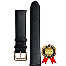 BRIGADA Fashion Soft Comfortable Leather Watch Band Replacement for Men, 20 mm standard length