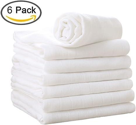 Muselinas Bebe Pack de 6 Mantas de Muselina de 2 Capas Algodón Paños de Suave Muselinas para Bebés Niña Niño de YOOFOSS (6 packs): Amazon.es: Bebé