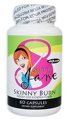 Skinny Burn - Weight Loss and Appetite Suppressant Supplement for Women - Raspberry Ketones - Green Tea - 100% All Natural Formula, Triple Strength, 30 Day Supply by Skinny Jane