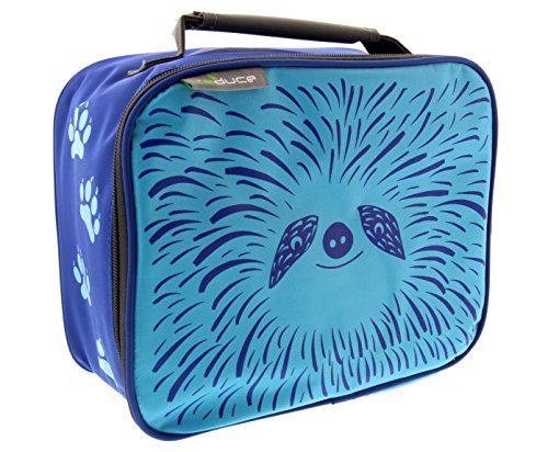 reduce insulated & reusable lunchbox- Furry Friends Design Blue Sloth - compact, lightweight with zipper closure - Lunch bag for kids, boys and girls