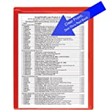 StoreSMART - Paperwork Organizers - 10-Pack - See-Thru Red Plastic Back, Clear Plastic Front - Heavy Duty - PF8511STR-10