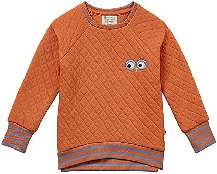 Piccalilly Organic Cotton Unisex Kids Spicy Orange Quilted Sweatshirt