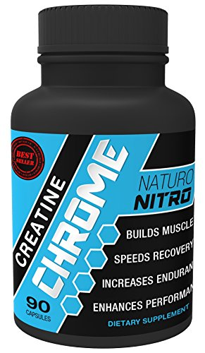 "Naturo Nitro Creatine Chrome with Magnapowerâ""¢ - Rapid Muscle Gain, Increased Muscle ATP and Cell Volumization, 90ct, 30 Day Supply"