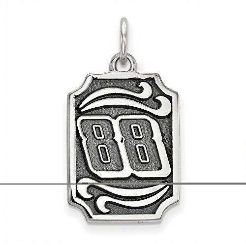 Dale Earnhardt Jr #88 Dog Tags Bali Leaf Pattern Stainless Steel Pendant & Chain