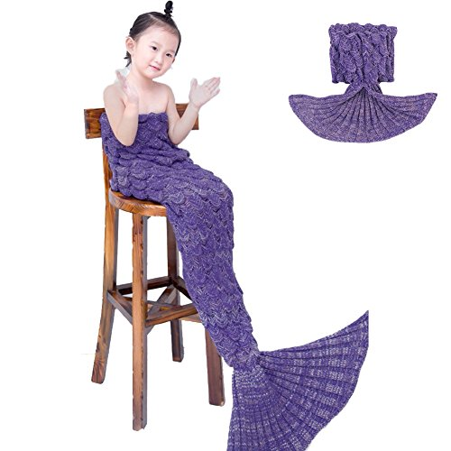 Awkli Fish Scale Sleeping Christmas Kids Purple product image