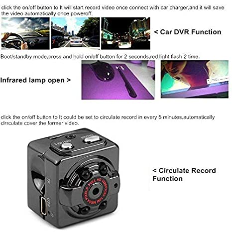 Amazon.com: Bestcam Mini Camera SQ8 HD 1080p Recorder Mini Car DV Motion Sensor IR Night Vision Micro Cam Sport DV Wireless Camcorder Recorder Spyy Hidden ...