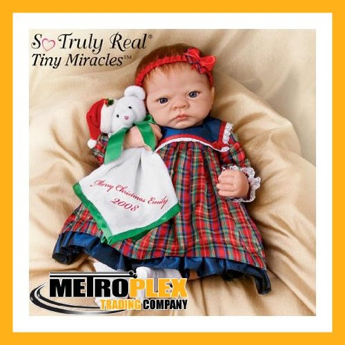 Linda Webb Life-Size Merry Christmas, Emily: Realistic Emily Christmas Doll - So Truly Real by Ashton Drake