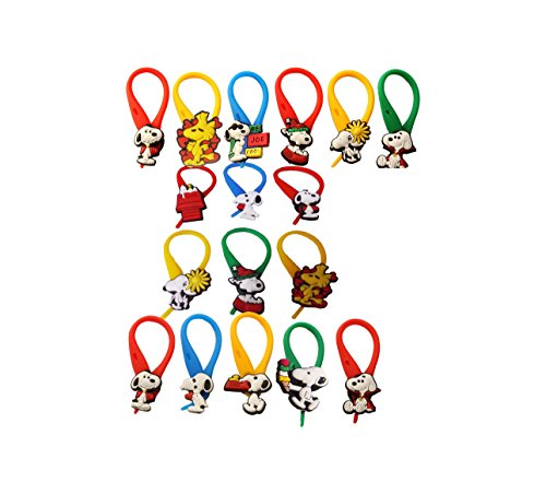 AVIRGO 17 pcs Colorful Soft Zipper Pull Charms for Jacket Backpack Bag Pendant Set # 211 -