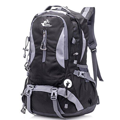 Awaytoy Hiking Backpack 40L Trekker Bag for Climbing Skiing Camping Travel Mountaineering Cycling Black