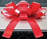 """CarBowz Big Red Car Bow, Giant 30"""" Bow, Non Scratch Magnet, Weather Resistant Vinyl"""