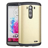 myLife Goddess Gold {Textured Bumps Layer Design} 2 Piece Hybrid Reflex Case for the LG G3 Smartphone (Outer Rubberized... by myLife Brand Products
