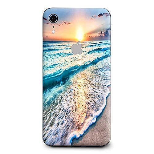 (Skin Decal Vinyl Wrap for Apple iPhone XR | Phone Stickers Skins Cover| Sunset on Beach)