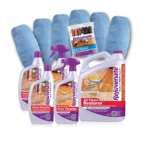 Rejuvenate Deluxe Big Job Floor Restoration Kit, For Homes Up To 2,600 Square Feet, 12 Pieces