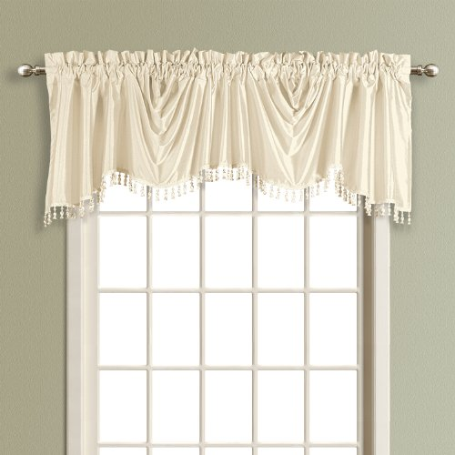 United Curtain Anna Austrian Valance, 108 by 31-Inch, Natural