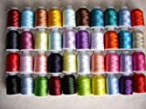 40 ASSORTED POLYESTER MACHINE EMBROIDERY THREAD