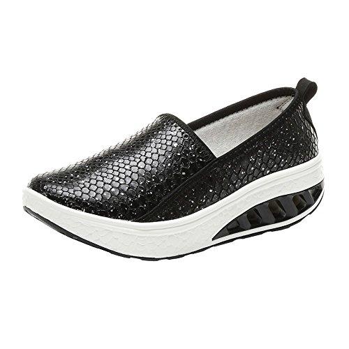 Clearance Sale Sneakers For Women,Farjing Fashion Women Air cushion Platform Shoes Shake Shoes Slip Leisure Sport Sneakers(US:5.5,Black) by Farjing