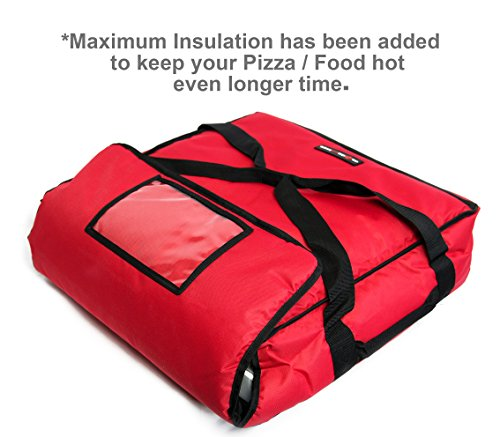 Moisture Free 18/″ Professional Large Pizza Delivery Bag Extra Insulation Black Polyester Insulated Pizza//Food Delivery Bag 16/″ 18 x 18 x 9