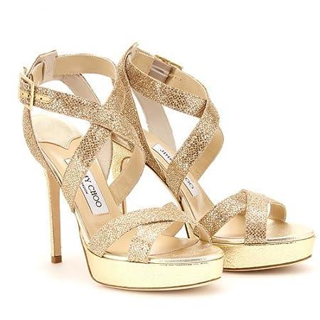 886614d47b1 Jimmy Choo Vamp Glitter Sandal Gold: Amazon.co.uk: Kitchen & Home