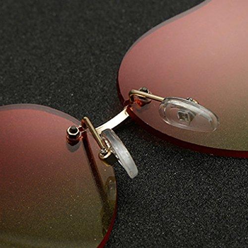 Gradient de sans coeur Forme soleil soleil 6 couleur Lentilles Lunettes Lunettes de du lunette Bobury qUYtw7Hw