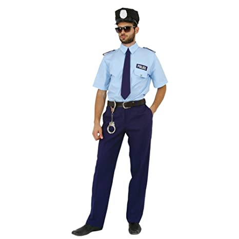 Mortino Traje Policía Fred Policía Uniforme Azul Carnaval ...