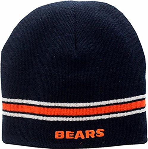 Chicago Bears Skull Knit Cap Basic Logo Striped Basic Logo Knit Cap