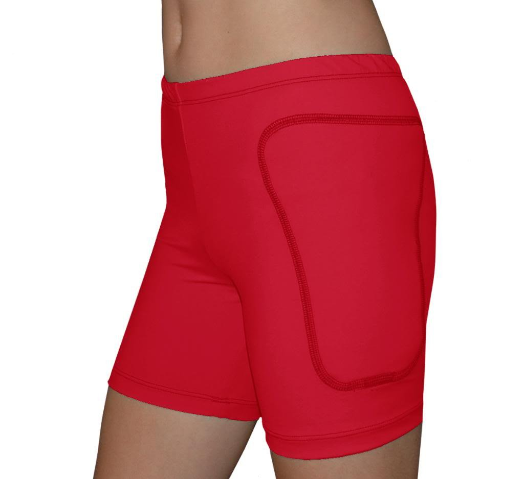 Tuga Padded Slider Shorts, 5'' Inseam, Red, Large by Tuga Sportz