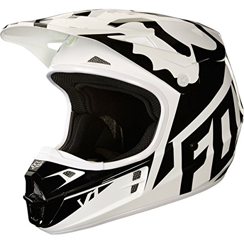 2018 Fox Racing V1 Race Helmet-White/Black-S by Fox Racing