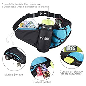Hydration Running Belt by AIHOLES - Holds all iPhones Plus Accessories - with Expandable Water Bottle holder - Fits Large Water Bottle (Bottle Not Included)