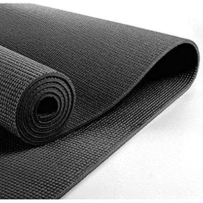N24 PureBliss Eco Friendly Black Yoga Mat 1/4 Inch Thick Perfect Mat For Any Kind Of Yoga PVC Foam 72 Inch Long 24 Inch Wide