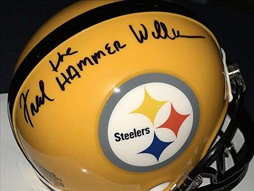 "Fred Williamson""the Hammer"" Pittsburgh Steelers Signed Riddell Mini Helmet - Autographed NFL Mini Helmets"