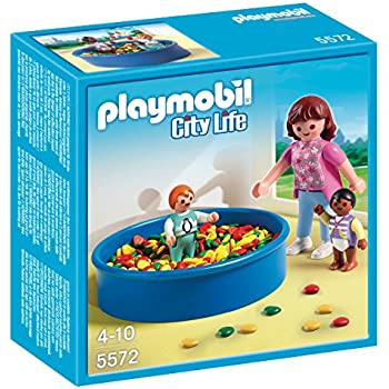 Amazon.com: PLAYMOBIL® Mother with Twin Stroller Set: Toys & Games