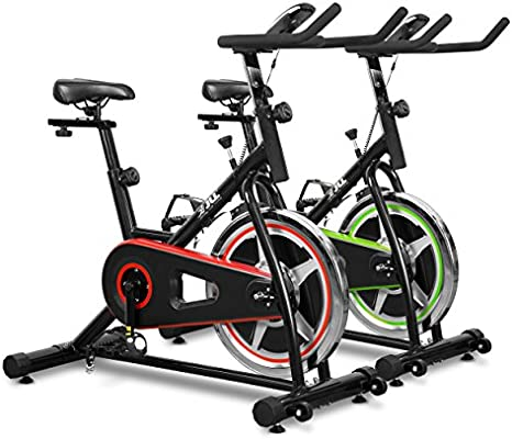 NEW JLL Indoor 10kg Flywheel Direct Chain Driven Exercise Bike - Red/Black: Amazon.es: Deportes y aire libre