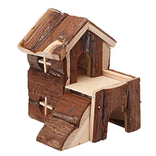 PETLOCA Hamster Nest, Hamster Chalet Syrian Hamster Guinea Pig Chalet, Hamster Pet Molar Toy Accompany, Pet Nest Villa, Creative Christmas, Pet Supplies,Pet cage,Natural Living Mat House,M