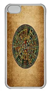 MMZ DIY PHONE CASEForm-Fitting Design with Illustration Painting Ancient Calendar Hard Plastic Back Case for iphone 5/5s -519007
