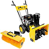 STKUSA 6.5HP Gas Walk Behind 2 in 1 Multi-Function Snow Sweeper & Snow Thrower