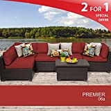 Premier 6 Piece Outdoor Wicker Patio Furniture Set 06a