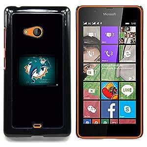 """Qstar Arte & diseño plástico duro Fundas Cover Cubre Hard Case Cover para Nokia Lumia 540 (Dolphin Grunge"""")"""