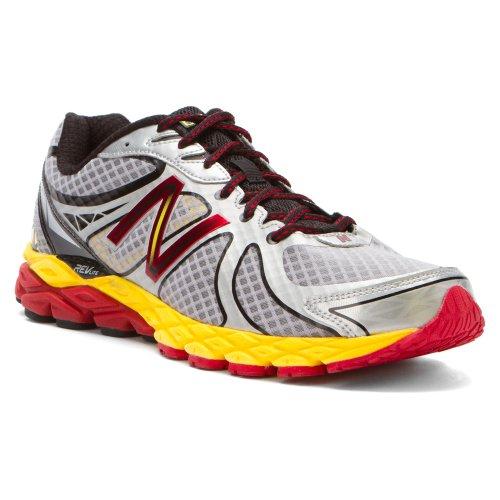 New Balance Men's M870v3 Running Shoe,Silver/Yellow,9 D US