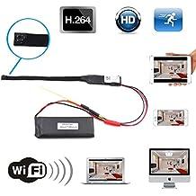 Wireless Mini Hidden Camera, Mocrux HD 1080P 500W Pixels Ultra-small WiFi IP Camera Motion Detection Remote Mini Wifi Camera Portable Mini Home Security Camera for IOS Android Mobile Phone Tablet PC