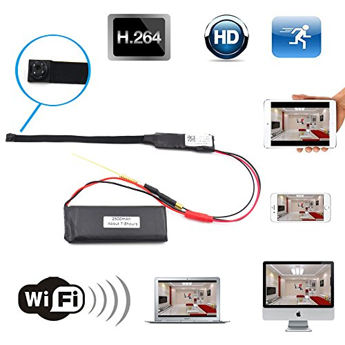 Spy Hidden WiFi Espia Camera - 1080P Portable Security DIY Wireless Secret Home and Business Camara Espia, Motion Detection/Loop Recording/Night Vision Nanny Cam