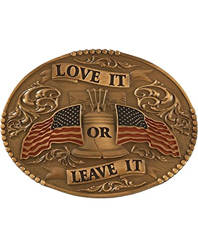 Love Belt (Cody James Men's Love It Or Leave With American Flag Belt Buckle Multi One Size)