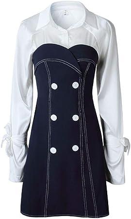 Vestido de mujer Vestido de negocios de dos piezas para mujer Vestido de manga larga Camisa