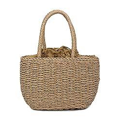 Pengy Woman Handmade Straw Crossbody Bags Fashion Bamboo Handbag Summer Beach Sea Tote Bag